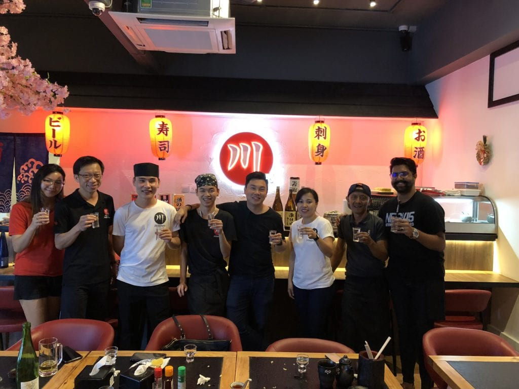 Our team at mikawa yakitori bukit timah